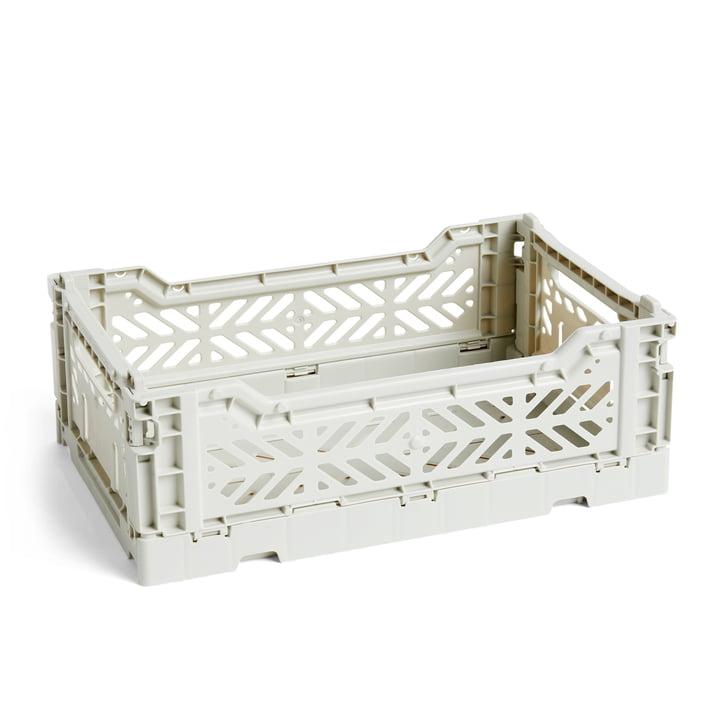 Colour Crate Basket S, 26,5 x 17 cm par Foin en gris clair