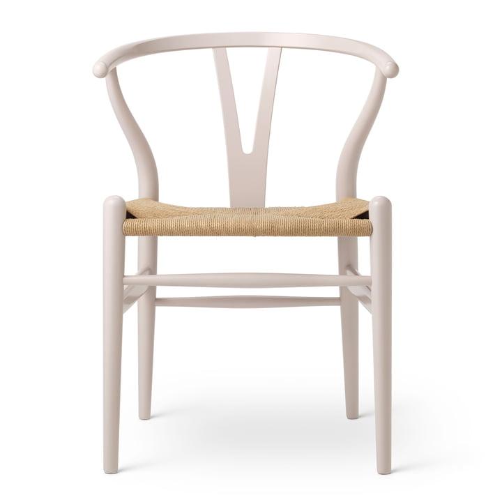 CH24 Chaise Wishbone de Carl Hansen en Hêtre Rosé Blush / Vannerie naturelle (Edition Anniversaire)