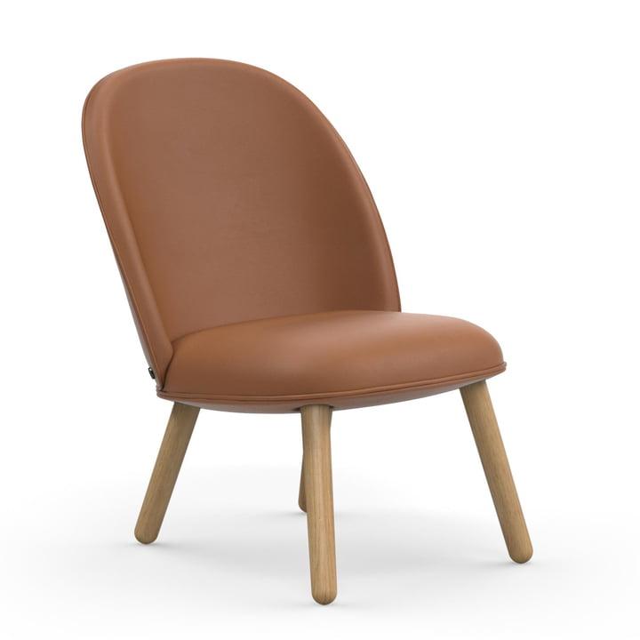 Ace Lounge Chair par Normann Copenhagen en chêne / brandy (Ultra Leather 41574)