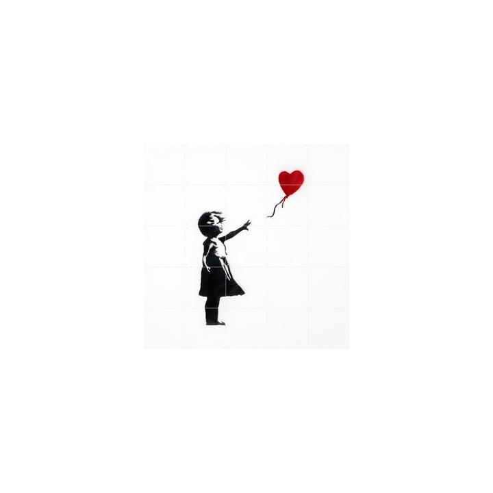 Fille au ballon (Banksy) 100 x 100 cm de IXXI