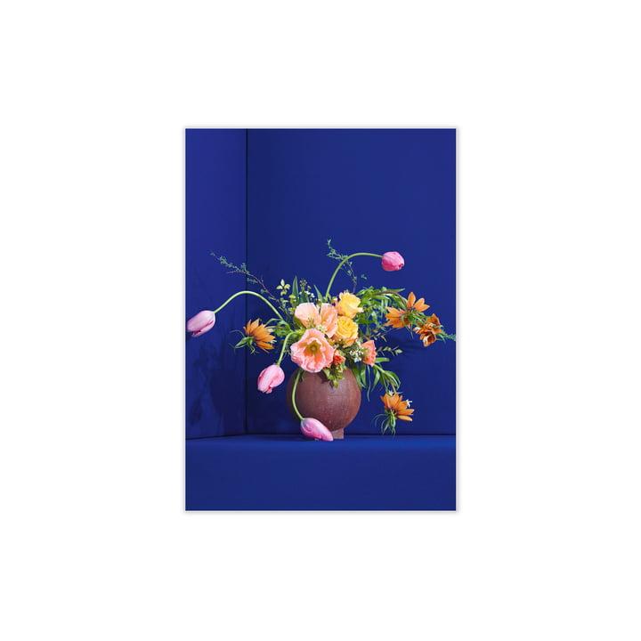 Blomst de Paper Collective , 30 x 40 cm en bleu