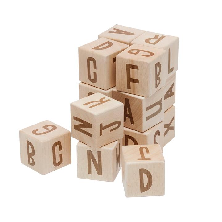 Blocs de lettres de Sebra en hêtre