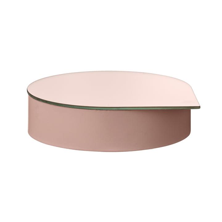 Boîte à bijoux en gutta avec miroir grand en rose de AYTM