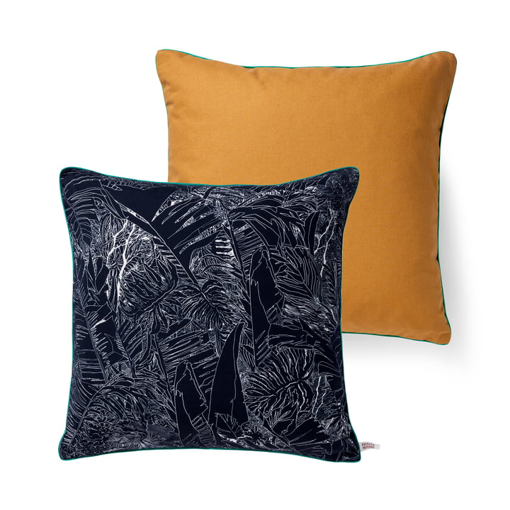 Oreiller Jungle de Petite Friture, 50 x 50 cm en noir / blanc