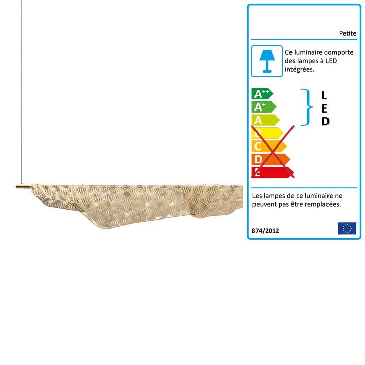 Mediterranea luminaire suspendu LED par Petite Friture en laiton brossé