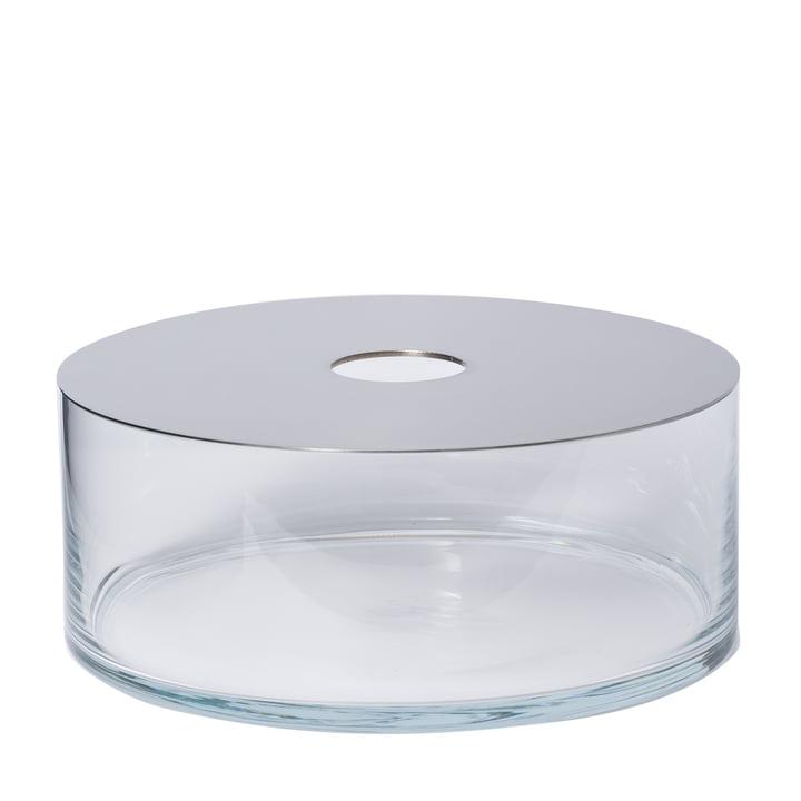 Narciso Vase Pattio en transparent avec miroir par Petite Friture