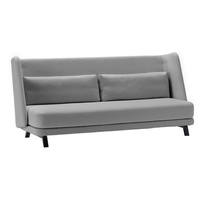 Canapé-lit Jason de Softline en frêne noir / Vision gris clair (445)