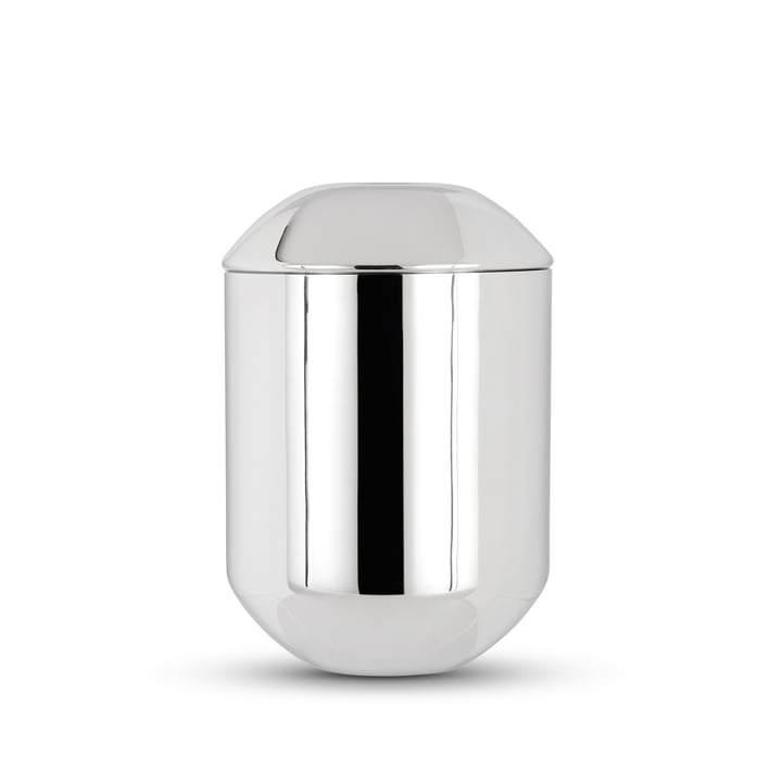 Boîte à thé en forme de Tom Dixon en acier inoxydable