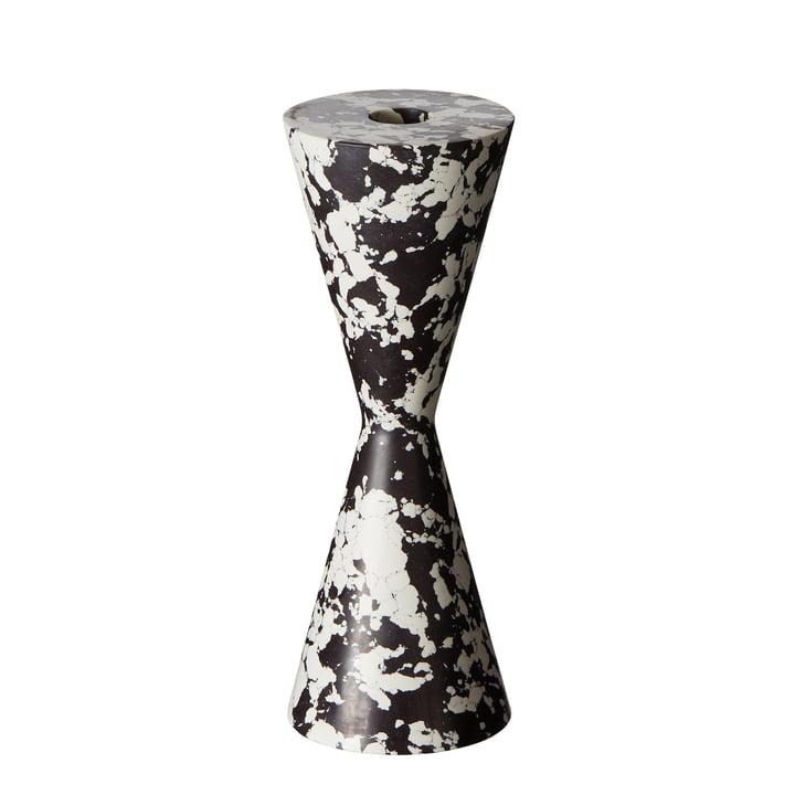 Bougeoir conique tourbillonnant de Tom Dixon en noir / blanc