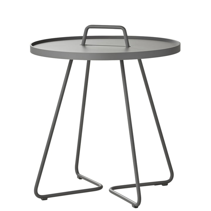 On-the-move Table d'appoint Ø 52 x H 60 cm de Cane-line en gris clair