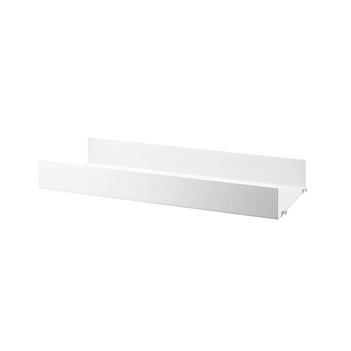 sol en métal avec bord haut 58 x 20 cm de String en blanc
