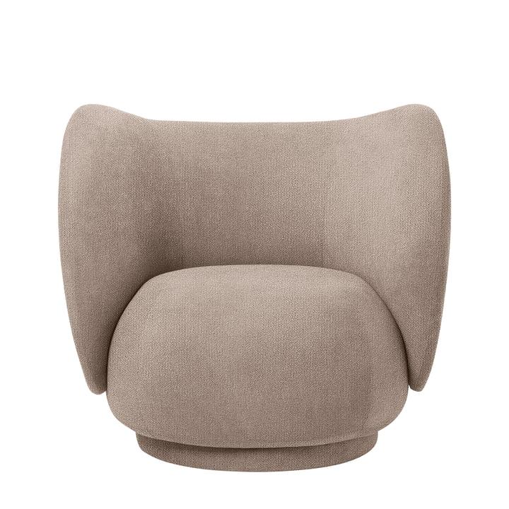 Chaise Rico Lounge Chair, Bouclé sand by ferm Living