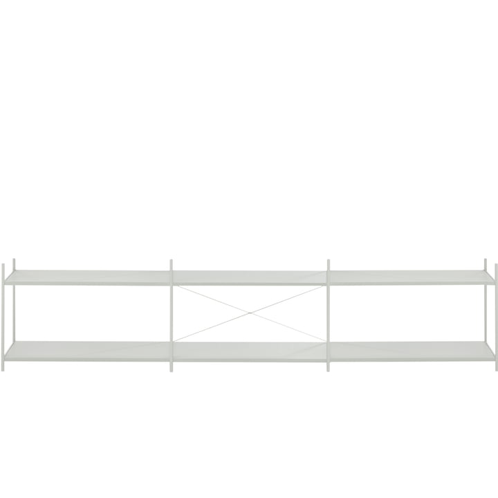 Système d'étagères ponctuelles 3x2 en gris de ferm Living