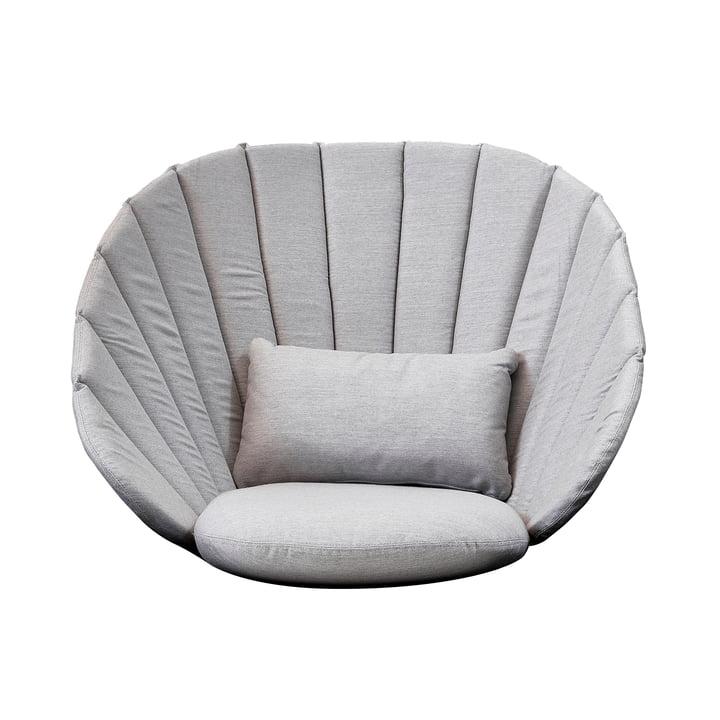 Set de coussins (3 pcs.) pour le fauteuil Peacock Lounge de Cane-line dans gris clair