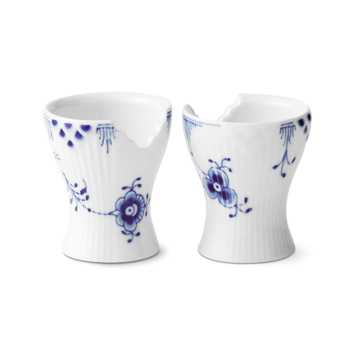 Elements Blue Egg Cup (Lot de 2) par Royal Copenhagen
