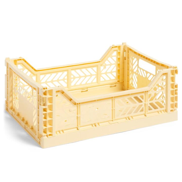 Couleur Panier à caisses M, 40 x 30 cm du foin en jaune clair