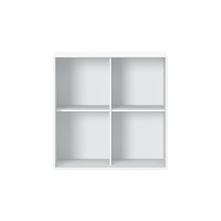 Montrez le module d'étagère 1112 avec la suspension murale de Montana en blanc neuf.