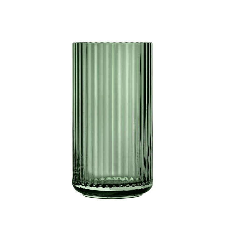 Vase en verre H 20 cm de Lyngby Porcelæn en vert