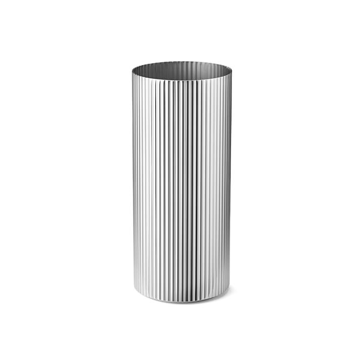 Vase Bernadotte médium en acier inoxydable poli par Georg Jensen