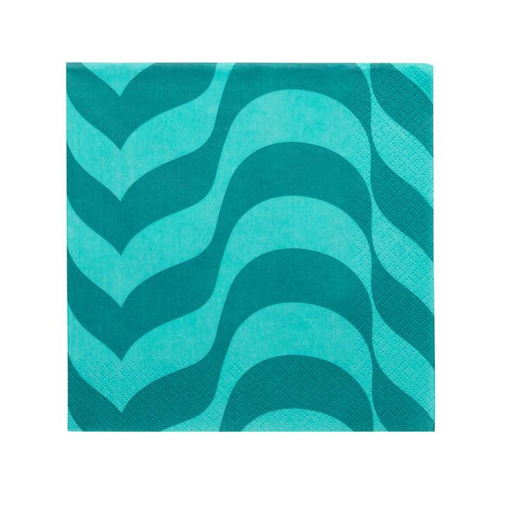 Serviette en papier Aalto 33 x 33 cm d'Iittala en bleu marine