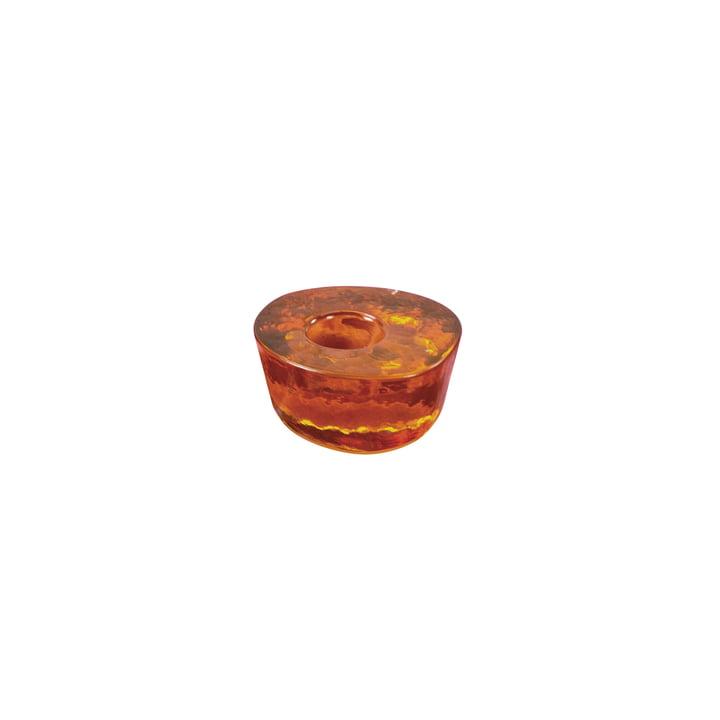 Bougeoir Atoll petit modèle de Pulpo en ambre