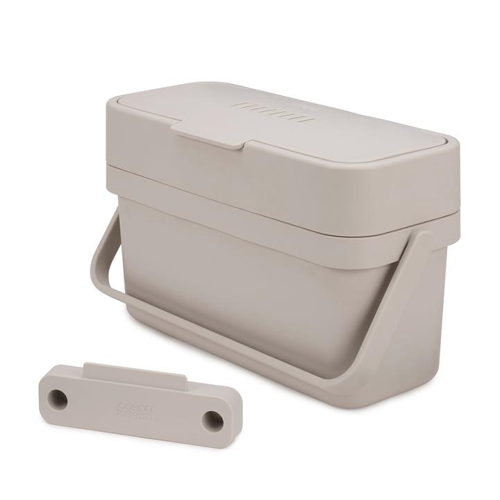 Compo 4 Corbeille à déchets organiques Compo 4 avec support par Joseph Joseph en gris