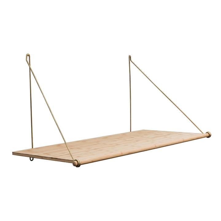 Bureau Loop par We Do Wood en bambou / laiton