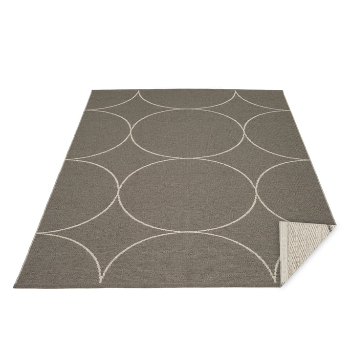 Tapis réversible Boo, 180 x 275 cm, anthracite / lin Pappelina