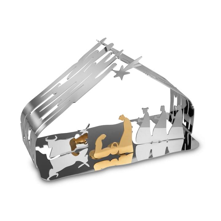 Berceau à écorce d'Alessi en acier inoxydable / acier doré