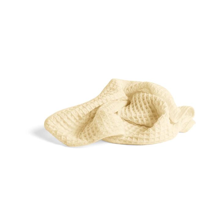 Serviette gaufrée géante 100 x 50 cm de Hay en jaune tendre