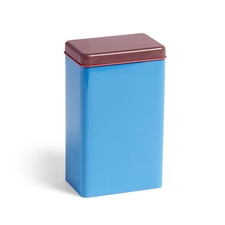 Boîte en fer-blanc par Sowden boîte de rangement par Hay en bleu