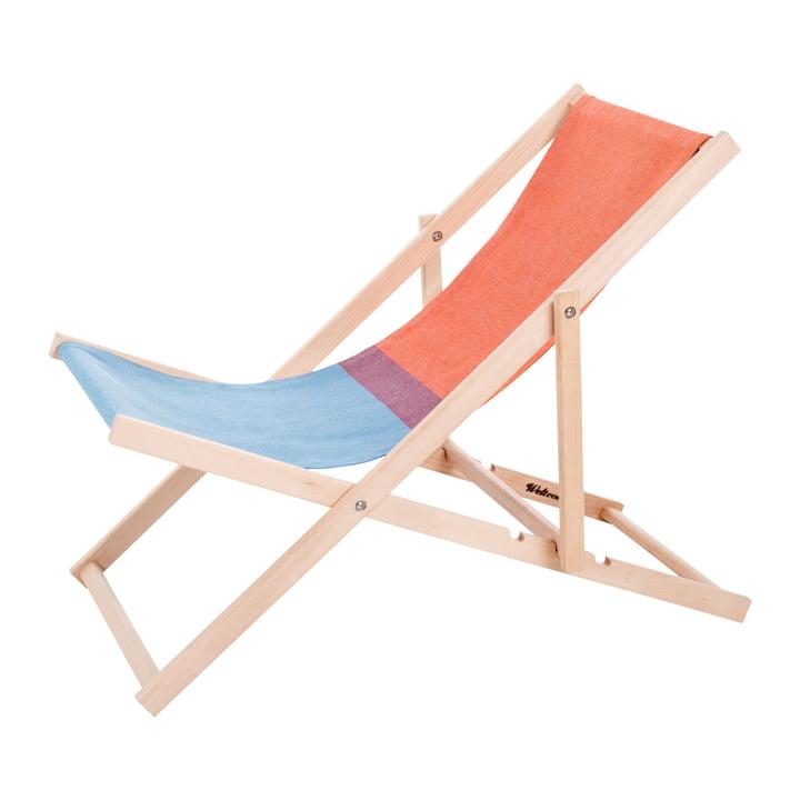 Chaise de plage en rouge / bleu par Weltevree
