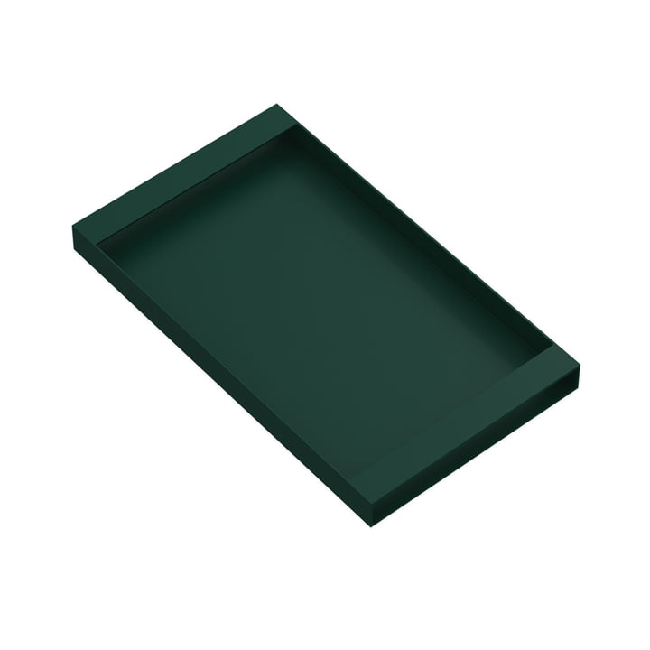 Plateau Torei 320 × 185 × 25 mm de New Tendency en vert foncé