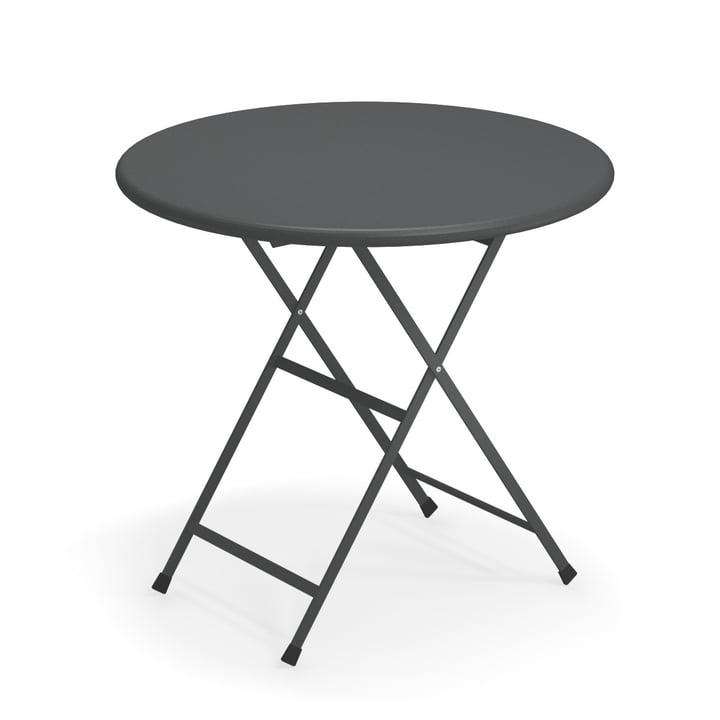 Table pliante Arc en Ciel, Ø 80 x H 74 cm en fer antique par Emu