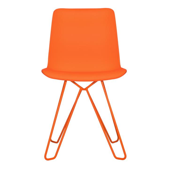 Chaise bergère d'objets de nos jours en orange pur