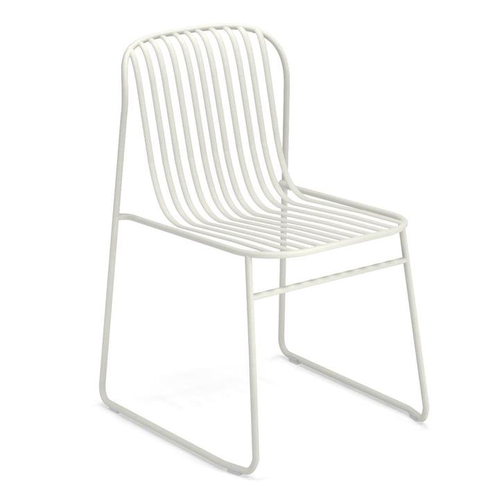Chaise Riviera en blanc par Emu