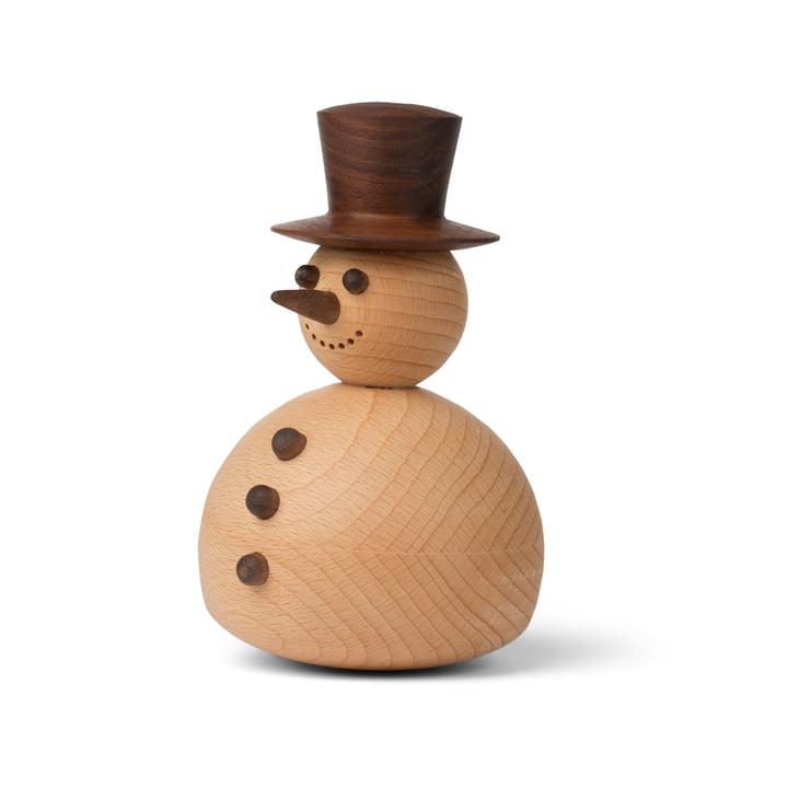 Figurine décorative bonhomme de neige en noyer / hêtre de Spring Copenhagen