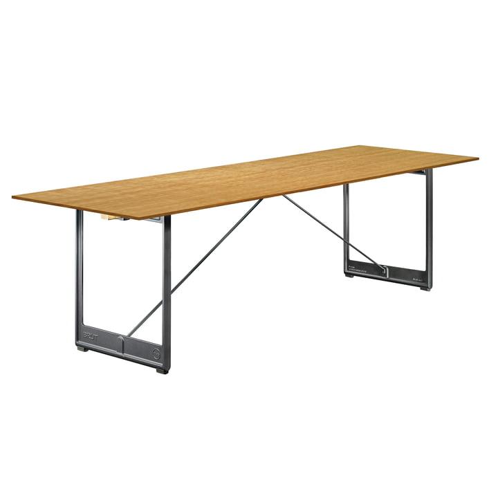 Table à manger Brut, 205 x 85 cm en placage chêne/gris anthracite de Magis