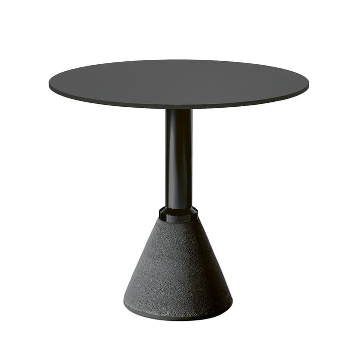 Table One Bistro Ø 79 cm en noir / noir par Magis