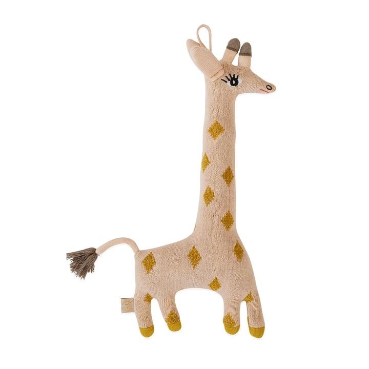 Peluche en tricot Bébé Girafe Guggi par OYOY