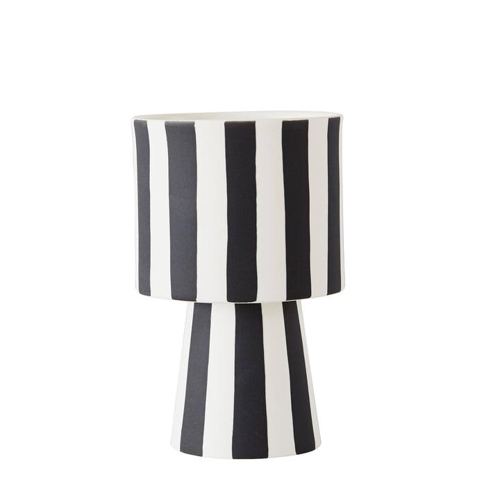 Jardinière Toppu Ø 10 x H 15 cm de OYOY en noir / blanc
