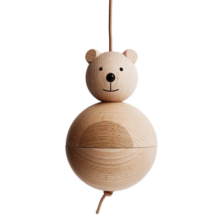 Figurine ours en bois OYOY en chêne / hêtre