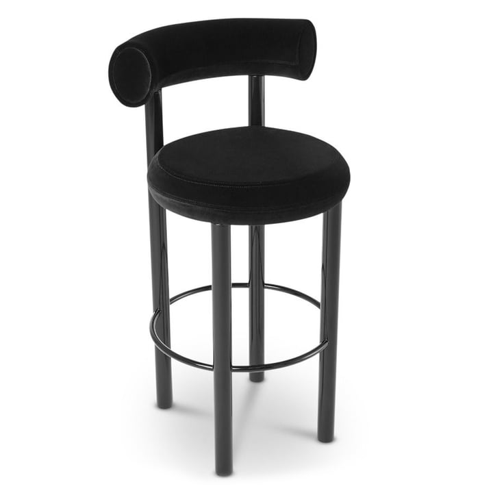 Tabouret de bar Fat de Tom Dixon en noir