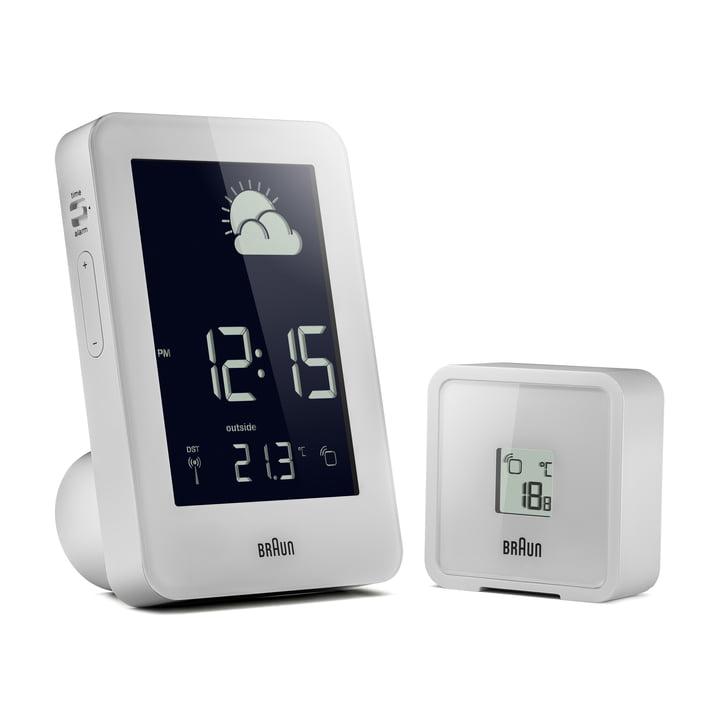 Station météorologique sans fil de Braun en blanc