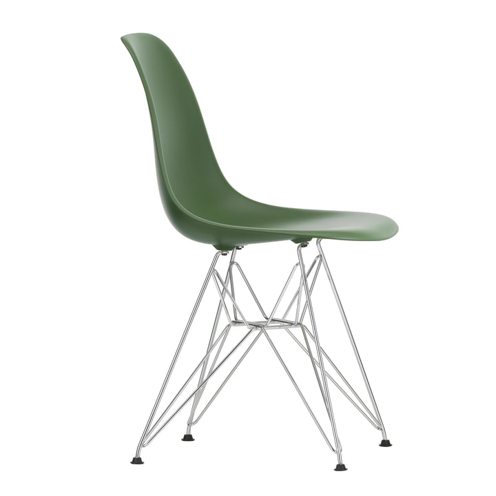 Chaise Eames Plastic Side Chair DSR by Vitra en chrome / forêt