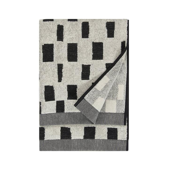 Serviette Iso Noppa 50 x 100 cm de Marimekko en blanc cassé / noir