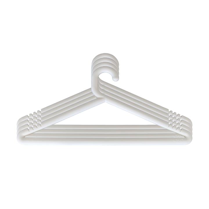 Cintre Hongi en blanc (ensemble de 4) par Karup Design