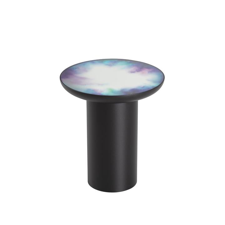 Table d'appoint Francis Ø 40 x H 45 cm de Petite Friture en noir / bleu et violet