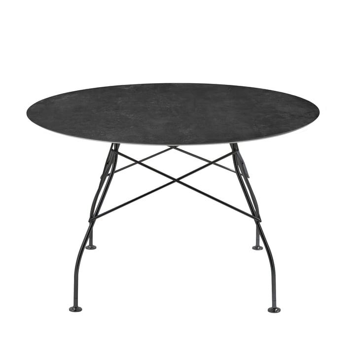 Table brillante Ø 118 x H 72 cm de Kartell en noir / marbre noir