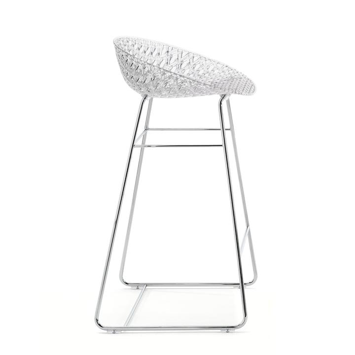 Chaise de bar Smatrik de Kartell en chrome / cristal